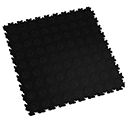 Heavy Duty New PVC Interlocking Floor Tiles - Black