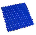 Heavy Duty New PVC Interlocking Floor Tiles - Blue