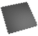 Heavy Duty New PVC Interlocking Floor Tiles - Dark Grey