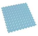 Heavy Duty New PVC Interlocking Floor Tiles - Light Blue