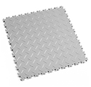 Heavy Duty New PVC Interlocking Floor Tiles - Light Grey