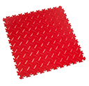 Heavy Duty New PVC Interlocking Floor Tiles - Red