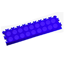 Heavy Duty New PVC Interlocking Tile Edge Ramp - Blue