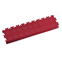 Heavy Duty New PVC Interlocking Tile Edge Ramp - Burgundy
