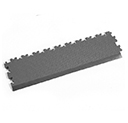 Heavy Duty New PVC Interlocking Tile Edge Ramp - Dark Grey