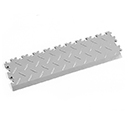 Heavy Duty New PVC Interlocking Tile Edge Ramp - Light Grey