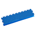 Heavy Duty New PVC Interlocking Tile Edge Ramp - Electric Blue