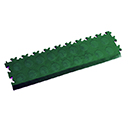 Heavy Duty New PVC Interlocking Tile Edge Ramp - Green