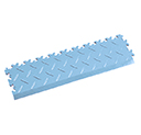 Heavy Duty New PVC Interlocking Tile Edge Ramp - Light Blue