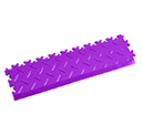 Heavy Duty New PVC Interlocking Tile Edge Ramp - Purple