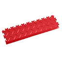 Heavy Duty New PVC Interlocking Tile Edge Ramp - Red