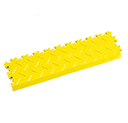 Heavy Duty New PVC Interlocking Tile Edge Ramp - Yellow