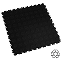 Heavy Duty Recycled Interlocking Floor Tiles - Black