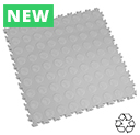 Heavy Duty Recycled Interlocking Floor Tiles - Light Grey
