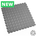 Heavy Duty Recycled Interlocking Floor Tiles - Mid Grey
