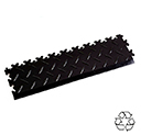 Heavy Duty Recycled Interlocking Tile Edge Ramps - Black