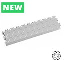 Heavy Duty Recycled Interlocking Tile Edge Ramps - Light Grey