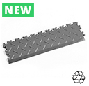 Heavy Duty Recycled Interlocking Tile Edge Ramps - Mid Grey