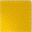 Diamond-Plate Pattern - Garage Floor Tiles - Colour Daytona Yellow